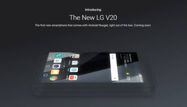 Google confirms LG V20 as the first device to launch with Android Nougat