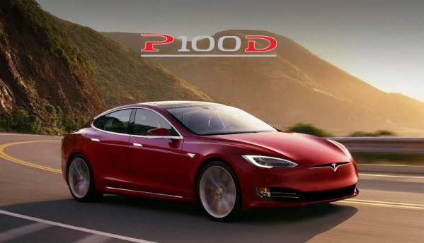 Tesla Model S P100D sedan can accelerate from 0-60mph in 2.5 seconds