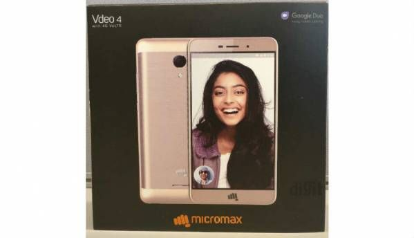 Sneak peek at Micromax's upcoming Vdeo 4 smartphone bundled with Google Duo