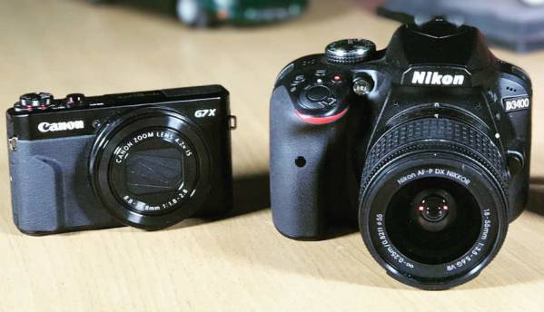Nikon D3400 v. Canon PowerShot G7X Mark II: Which should you pick?