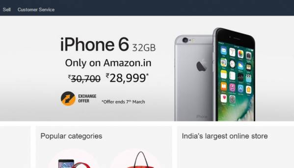 Deal Alert: Apple iPhone 6 (32GB) now available for Rs. 28,999, exclusively on Amazon