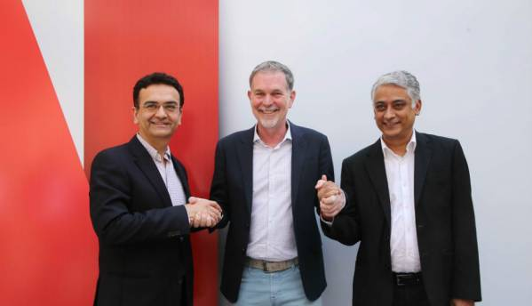 Netflix CEO Reed Hastings announces strategic partnerships with Airtel, Videocon d2h and  Vodafone in India