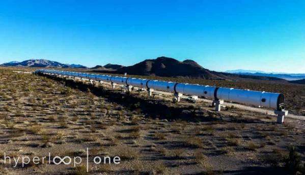 This is what Hyperloop One's DevLoop trial site in Nevada Desert looks like