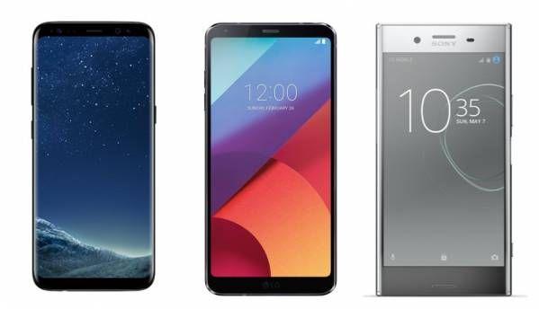 Samsung Galaxy S8, LG G6, Sony Xperia XZ Premium: Specification comparison