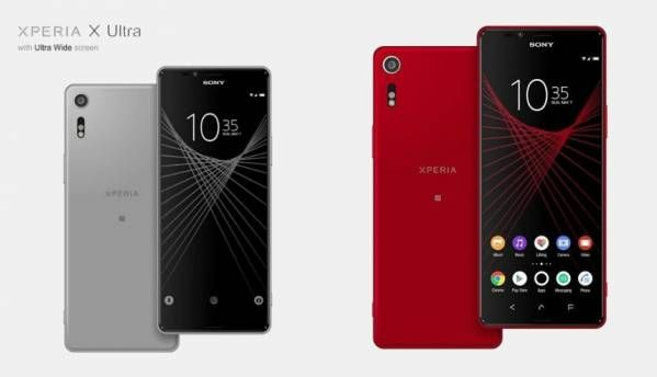 Leaked Sony Xperia X Ultra renders hint at 6.45-inch ultra wide display