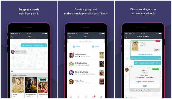 BookMyShow rolls out new in-app messaging service, 'Plan It'