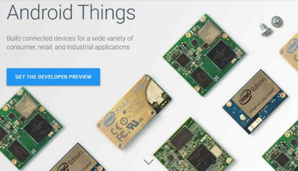 First developer preview of Android Things Console released by Google