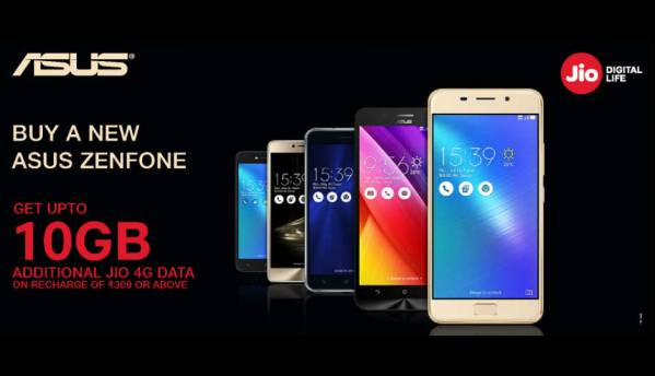 Reliance Jio offering 100GB additional 4G data with select Asus smartphones