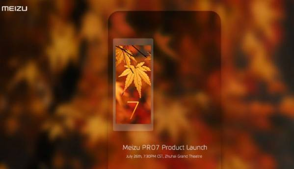 Meizu teases its dual-screened Pro 7 smartphone, will be unveiled on July 26
