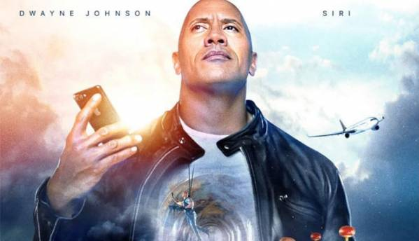 The Rock made a movie...umm commercial with Apple's Siri