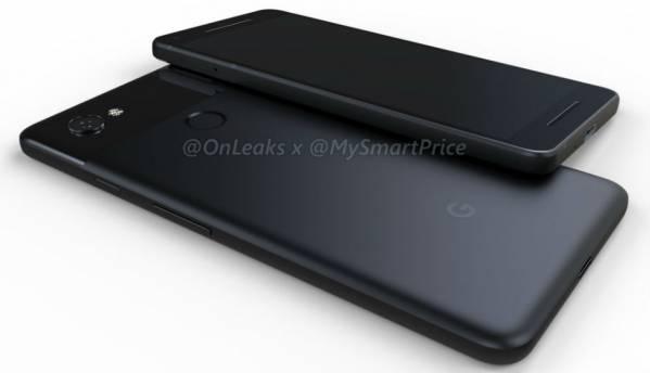 Google Pixel 2, Pixel 2 XL 3D renders lack dual camera setup, headphone jack