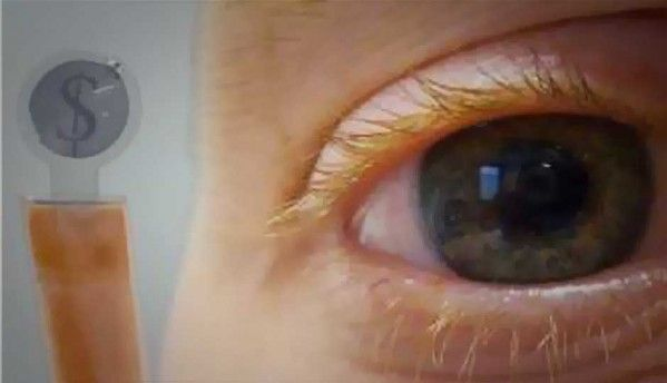 Now, contact lenses can display your text messages
