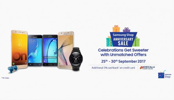 Samsung kicks off Anniversary sale, offers discounts on Galaxy S8+, Galaxy On Max, Galaxy Gear S2 smartwatch and more