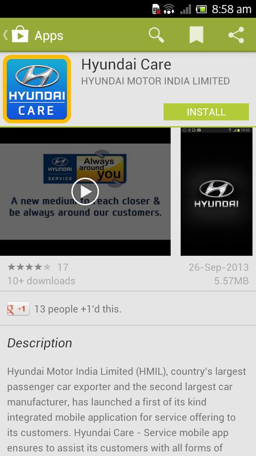 Hyundai Car Service Mobile Application