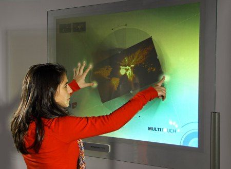 DISPLAX technology can transform any non-conductive surface into a multi-touch screen