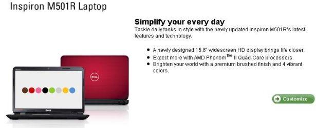Dell Inspiron M501R