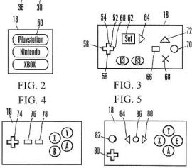 Sony's patent for a universal gaming controller