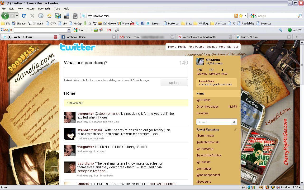 Twitter new tweet notification screenshot