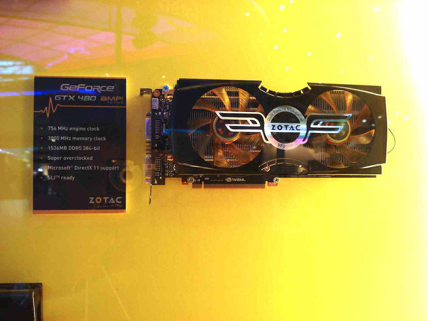 ZOTAC GTX 480 AMP - click to enlarge