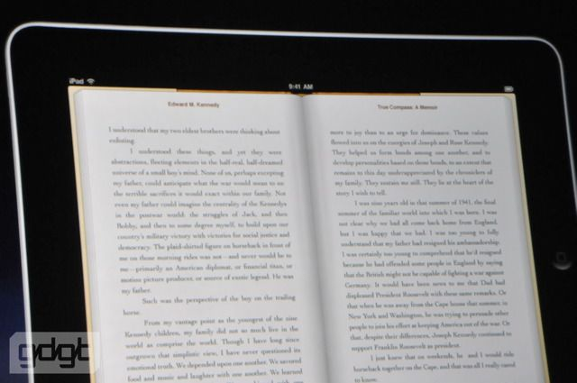 Reading books on the Apple iPad