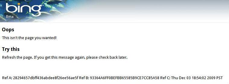 Bing Goes Down
