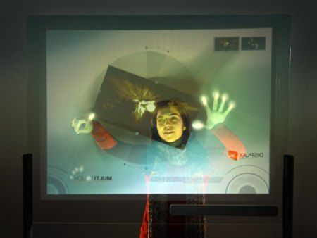 DISPLAX can detect up to 16 fingers across a 50-inch screen