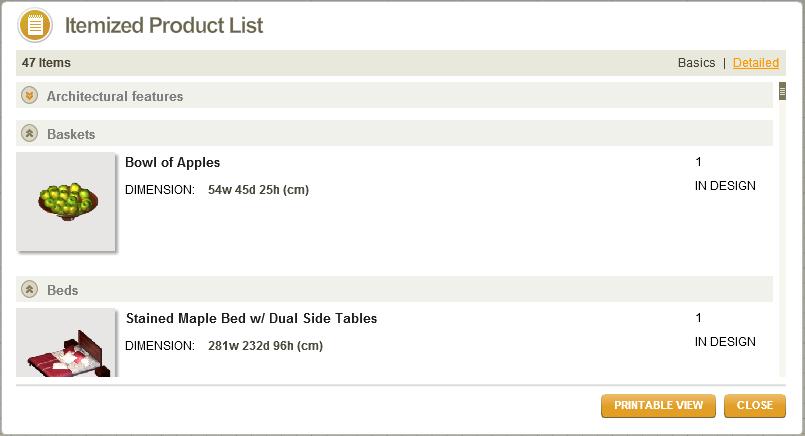 autodesk homestyler shopping list