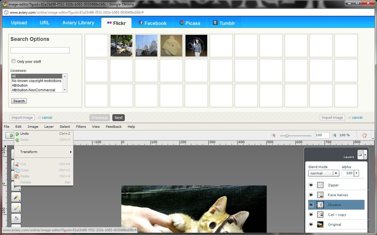 Picasa web albums as well as long as you have those accounts linked