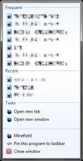 Firefox 3.7 Jump Lists