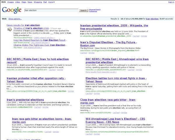 RedesignGoogle search 2 columns layout