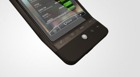 The HTC Hero has a iconic chin where its trackball is located
