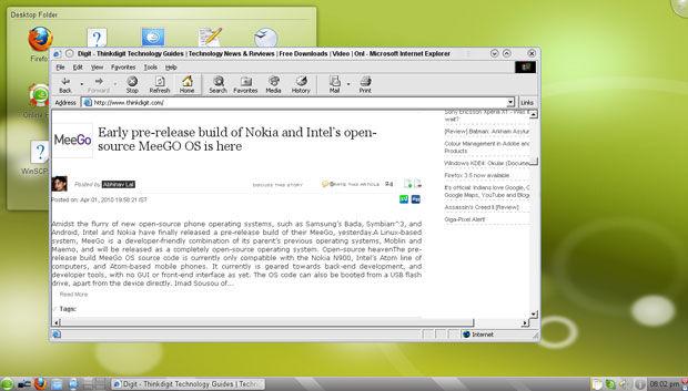 Internet Explorer 6 running on CrossOver