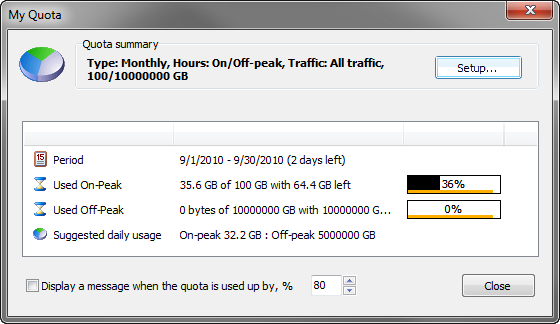 networx quota