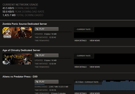 Steam client download manager