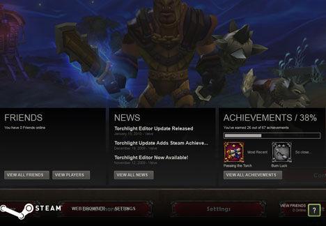 Steam in-game overlay menu