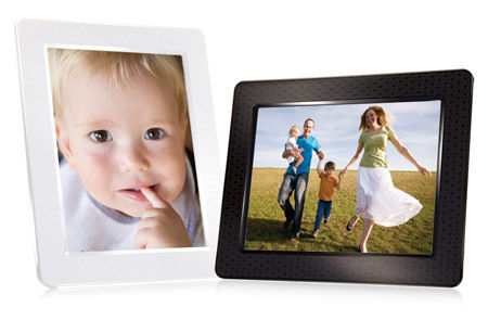 The Transcend Digital Photo Frame has an 8-inch LCD screen