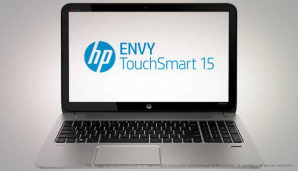 HP Envy TouchSmart 15-J109TX