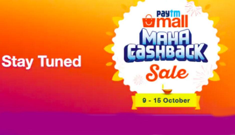 Image result for Paytm Mall Maha Cashback sale starts October 9: Flash sale, 'Golden Hours' price drop, Re 1 deals and more