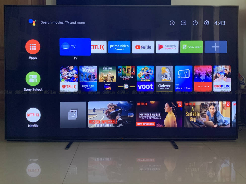 Sony Z8H runs on Android TV.