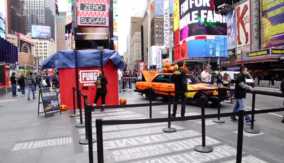 PUBG Mobile holds real-life Halloween event in Times Square