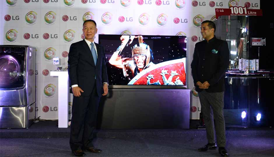 lg showcases its seriesu0027 collection at the lg tech show in mumbai