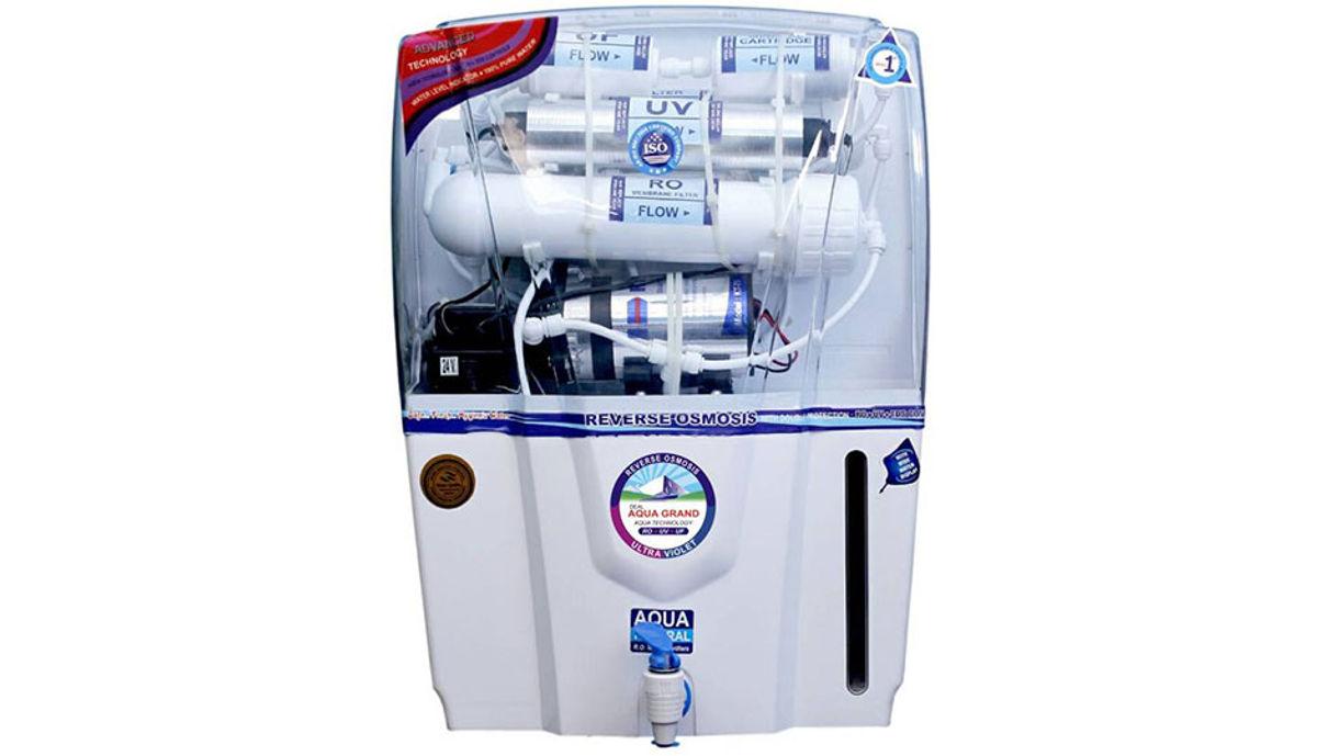 Aquagrand AUDY 12 L RO + UV + UF + TDS Water Purifier (White)