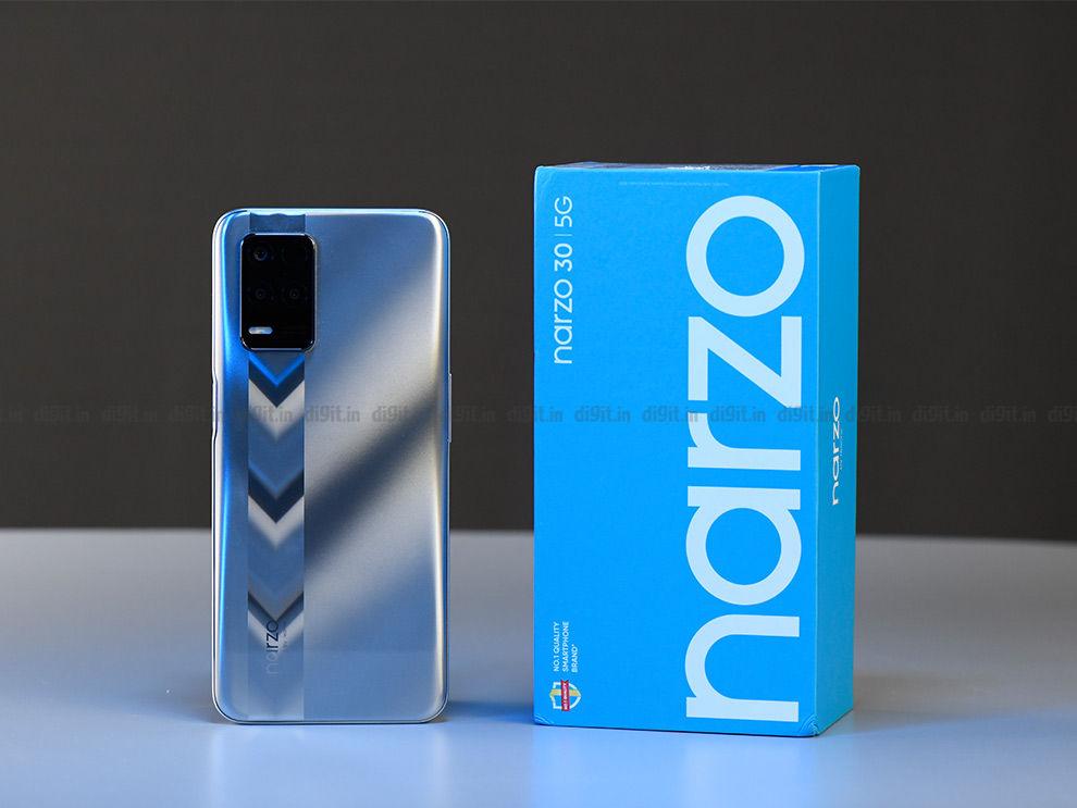Realme Narzo 30 5G: Design and Display