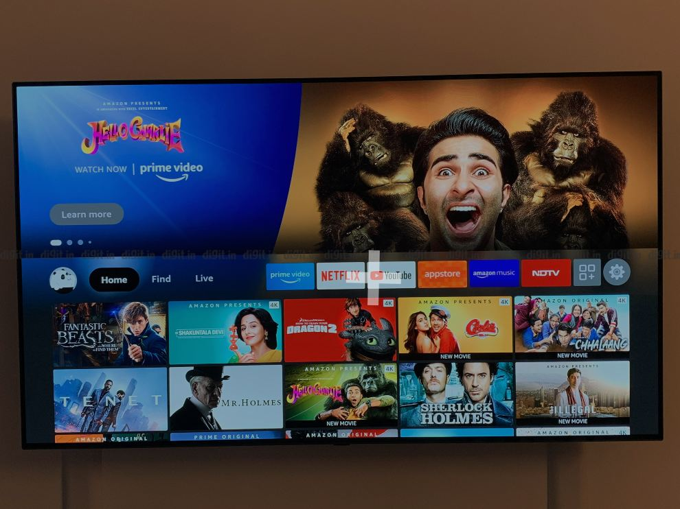 The Fire TV Cube runs on Amazons new Fire TV UI.