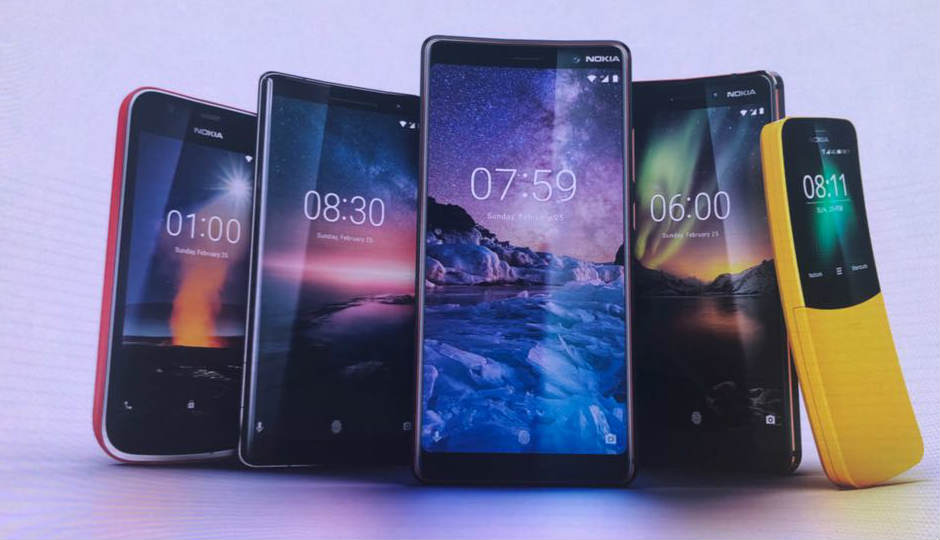 MWC 2018: Nokia launches the Nokia 1, Nokia 7 Plus, Nokia 8 Sirocco, Nokia 6 (2018) and the Nokia 8110 4G