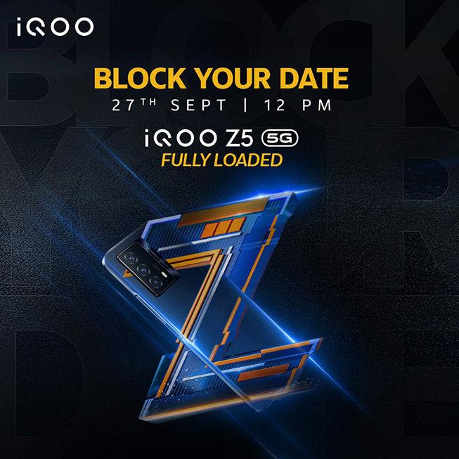 iQOO Z5 भारत में लॉन्च के लिए तैयार है।