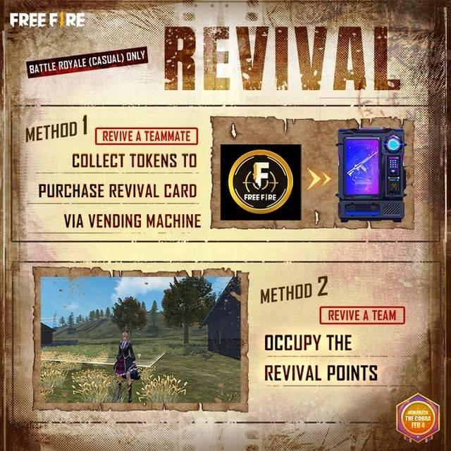 A atualização OB26 de Garena Free Fire apresentará um sistema de revive