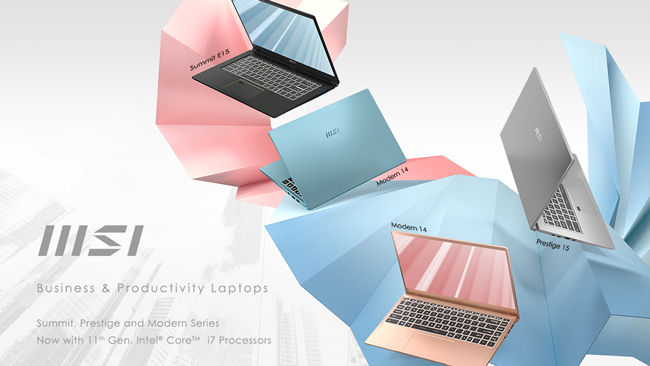 MSI Summit Modern Prestige Business Laptops