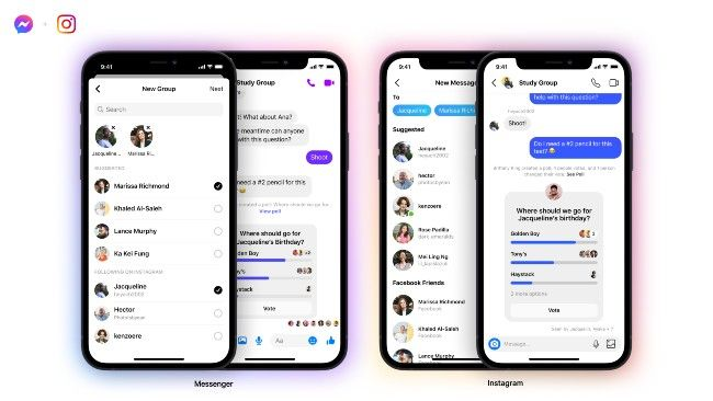 Facebook Messenger and Instagram cross application Group Chat