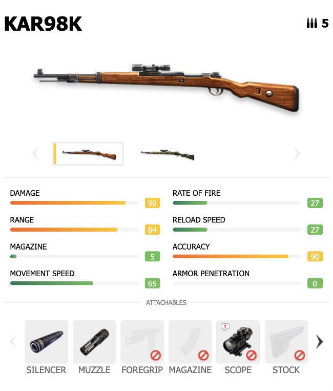 Garena Free Fire's Kar98K sniper rifle is a good all-rounder
